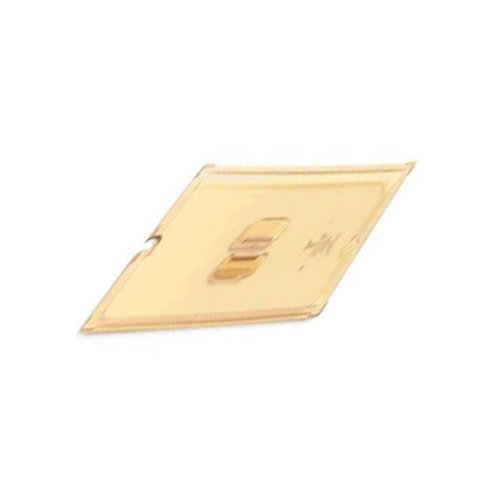 Vollrath Super Pan 1/4 GN Slotted Cover, high-temp amber plastic, fits all 1/4 Super Pan 3 plastic & stainless steel pans, NSF, meets gastronorm (EN 631-1) standard, Made in USA, 34400