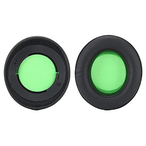 Yivibe Almohadilla para La Oreja, Almohadilla para La Oreja Flexible para Equipos De Auriculares(Verde)