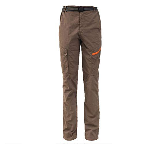 LaoZan Hombres Mujer Exterior Conjunto Chaqueta Pantalones de Senderismo Hidrófugo Respirable Secado Rápido Escalada Ropa de Calle Pantalones de Ciclismo (Café#2(Hombres),L