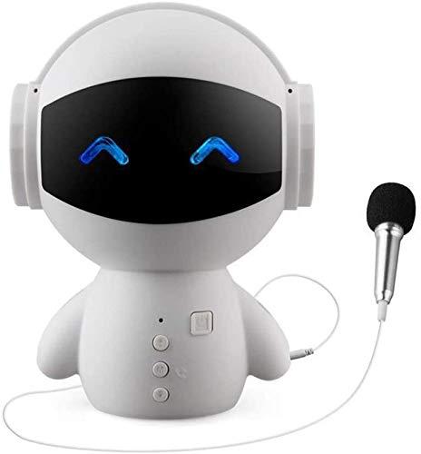 Kaper Go BYY Robot Inteligente Altavoz Bluetooth Juguete para Niños Mini Robot Inteligente Super Bass Portátil Móvil Altavoz Bluetooth Música Altavoz Inalámbrico Bluetooth Blanco