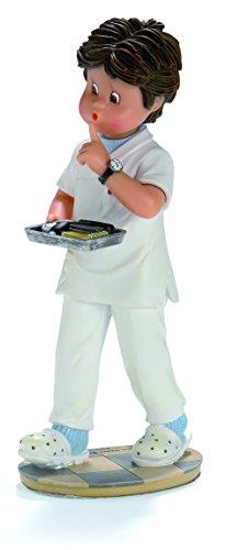 Nadal Figura Decorativa enfermero, Resina, Multicolor, 8.00x9.50x21.50 cm