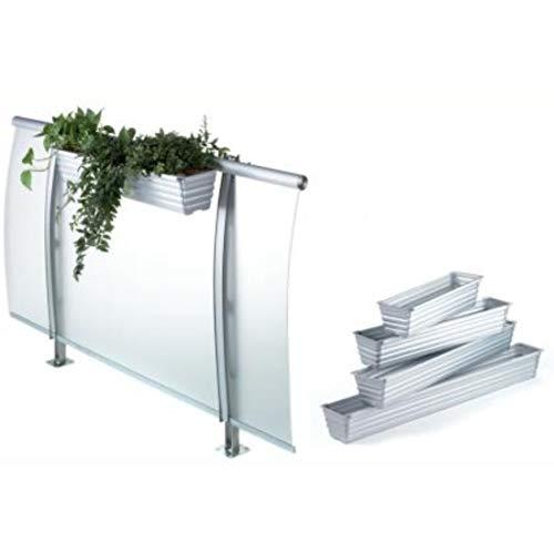 Demmelhuber Blumenkasten ALU Aluminium Pflanzkasten mit Entwässerung (80)