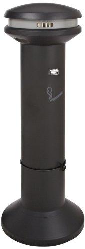 Rubbermaid Commercial Products FG9W3400BLA Infinity Abfallbehälter für Zigaretten mit hohem Fassungsvermögen, 25,4 L, Durchmesser 400 mm x H1010 mm
