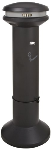 Rubbermaid Commercial Products FG9W3400BLA Infinity Ash Bin for Cigarettes...