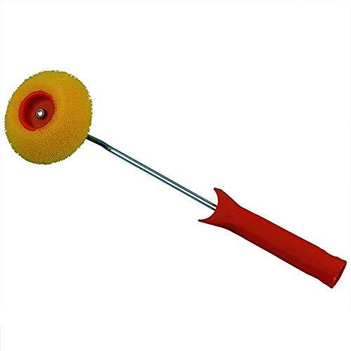 KDOAE Rodillos de Pintura Esponja de la Esquina Dibujo Scooter Cepillo Artístico Color Rodillo Decorativo para Muro Pintura Mural y Uso Doméstico (Color : Red, Size : One Size)
