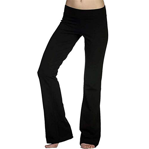 Xmiral Pantaloni Sportivi Attivi Pantaloni da Donna Elasticizzati Leggings da Yoga Fitness Running Gym Integrale (3XL,Nero)