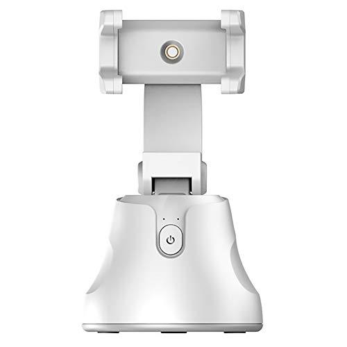 Gimbal Stabilizer Selfie Stick 360 ° drehbare automatische Objektverfolgung für Android & IOS System Dreadlocks Kamera für Smartphone Vlog Video Youtuber Live (Weiß)