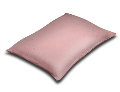 Silver Rest Sleep Shop 25-Inch by 19-Inch Kids Memory Foam Chip Pillow, Pink