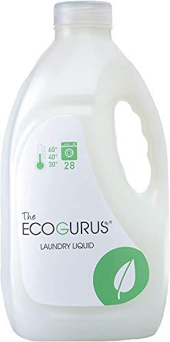 EcoGurus Flüssigwaschmittel - Umweltfreundlich, höchste Qualität und Waschmittel auf pflanzlicher Basis. - Für Babywäsche, Menschen mit empfindlicher Haut, Allergiker und alltägliche Wäsche. 2l