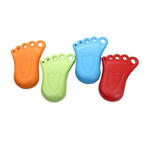 Dossier de porte petit style de cheville enfant carte de porte de sécurité anti-pincement for bébé butée de porte de sécurité, 4 paquets (Color : Random colors)