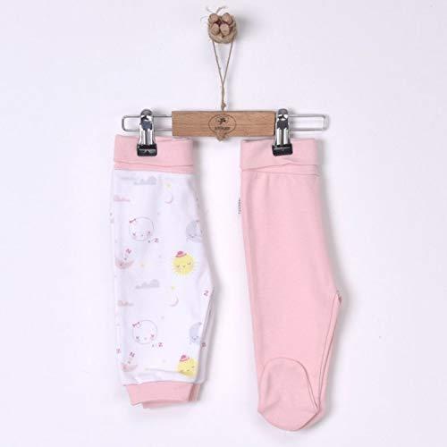 Sevira Kids - Lot de 2 pantalons bébé en coton bio, DREAMS