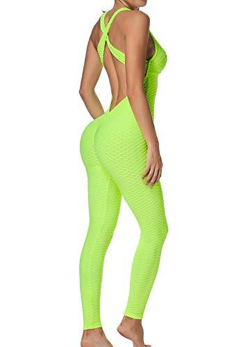FITTOO Mallas Pantalones Deportivos Leggings Mujer Yoga de Alta Cintura Elásticos y Transpirables para Yoga Running Fitness con Gran Elásticos1370 Amarillo XL