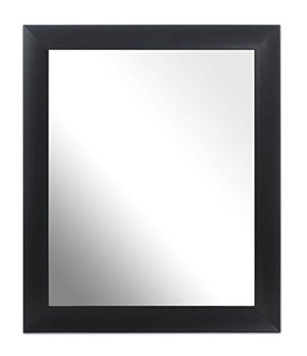 Inov8 10 x 20,3 cm Traditionnel de Fabrication Britannique Miroir, Verre Bois Dense, Scoop Black, 25 x 20 cm