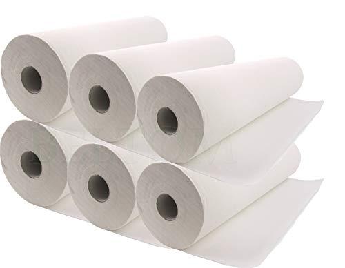 Beltom 6 Papierrollen Ärzterollen Ärztekrepp für Massageliege Massagetisch Massagebank