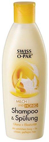 Swiss-o-Par 4 x Milch + Honig, Shampoo+Spülung in1 - je 250ml (1Liter)