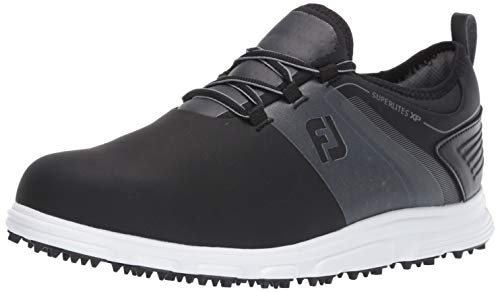 FootJoy Men's Superlites XP-Previous Season Style Golf Shoes, Black/Grey, 11 M US