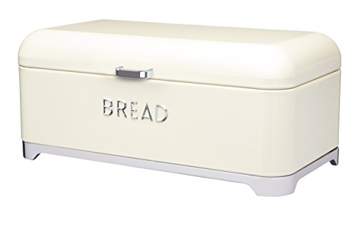 Kitchen Craft LOVELLO Brotkasten, 42 x 22 cm (41,9 x 21,6 cm) – Creme