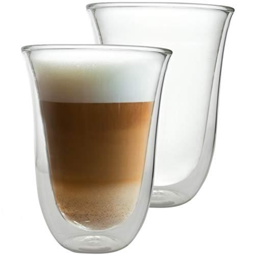 Caffé Italia Napoli - 2X Tasse Verre Double Paroi 300 ML - Tasse a Cafe pour de Latte Macchiato, Boissons Chaudes et Froides - Lavable au Lave-Vaisselle.