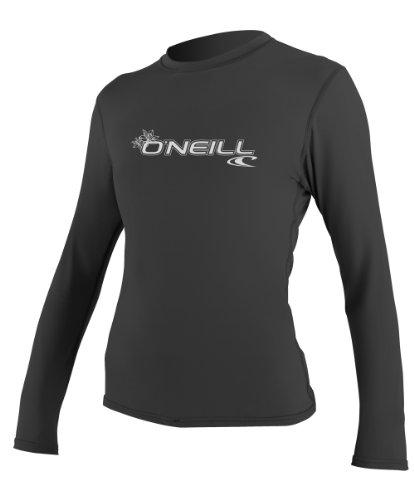 O'Neill Women's Basic Skins Upf 50+ Long Sleeve Sun Shirt, Black, Small