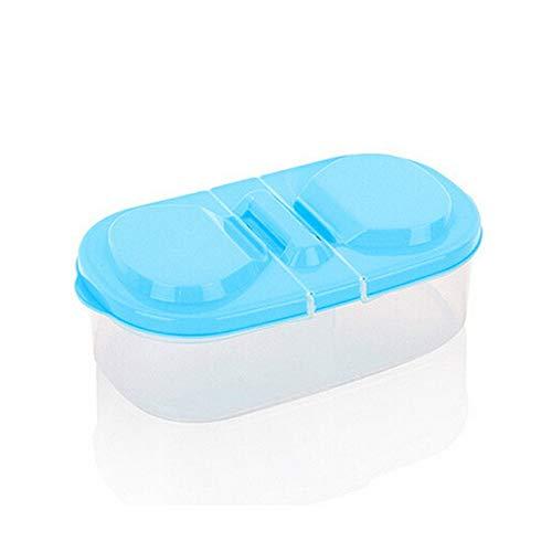 YUIO® Kitchen Food Getreide Getreide Bohnen Reis Kunststoff Vorratsbehälter Box Transparent Getreide Vorratsbehälter Blau (blau)