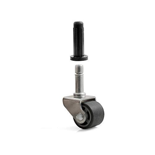 Design61 4x Lenkrolle Möbelrolle mit weicher Lauffläche Ø 25 x B 20 mm