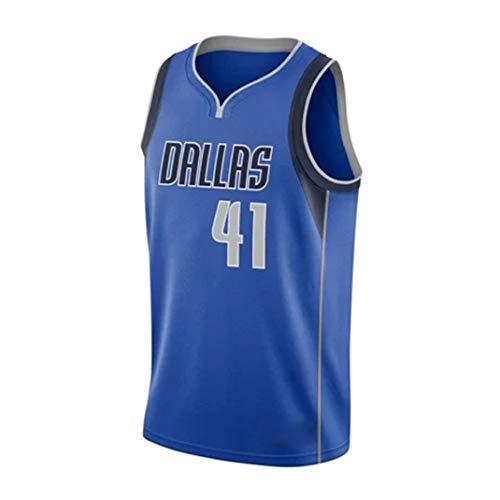 Yanhuimin NBA Jersey New Season No. 41 Nowitzki New Stoff Stickerei Basketball Trikot Unisex Ärmel T Shirt (Color : Purple, Size : XXL)