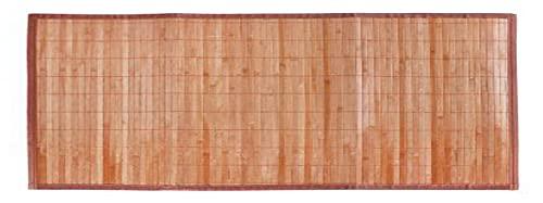 LEYENDAS Alfombra Antideslizante de Bambu,Alfombrilla de baño,Pasillo o Salon Repelente al Agua para la Ducha, marrón Claro (60_x_150_cm)
