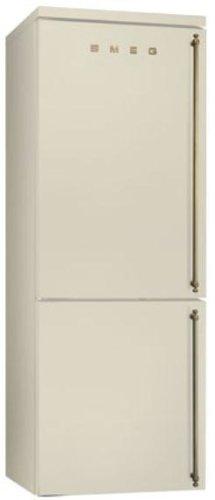 Smeg FA8003POS Independiente 356L A+ Crema de color nevera y congelador - Frigorífico (356 L, SN-T, 18 kg/24h, A+, Compartimiento de zona fresca, Crema de color)