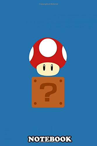 Notebook: Red Mushroom Box Mario Bros , Journal for Writing, College Ruled Size 6' x 9', 110 Pages