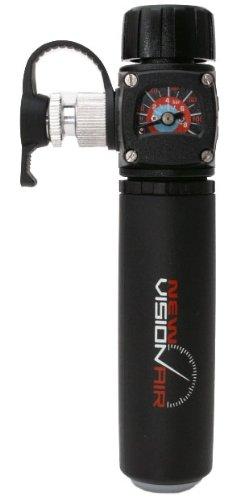 Barbieri New VISIONAIR CO²-Pumpe mit Manometer, schwarz, Einheitsgröße