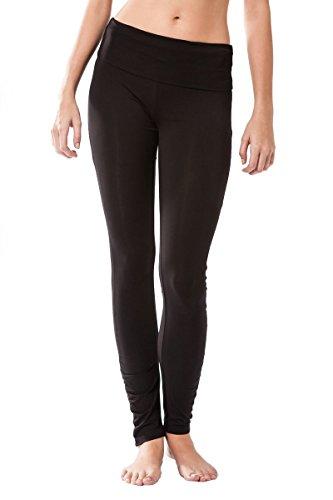 Sternitz Pantalon Fitness para Mujer, Dhana, Ideal para Hacer Pilates, Yoga y Cualquier Deporte, Tela de bambú, ecológica y Suave. Pantalón Largo Pegado. Muy Cómodo. (S, Negro)