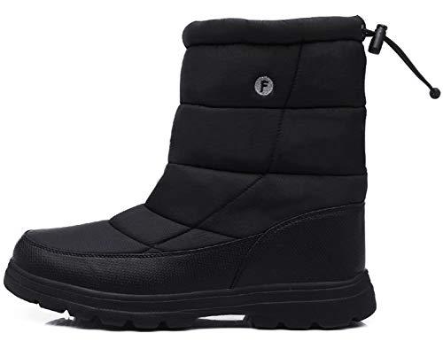 SINOES Weiblich 018 Klassische Stiefeletten Schneestiefel Bootsschuhe Wildleder Stiefel Schwarz 39 EU