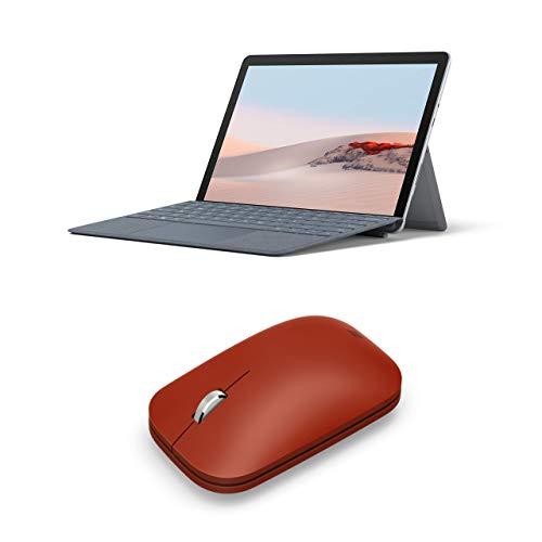 "Microsoft Surface Go 2 - Ordenador portátil 2 en 1 de 10.5"" Full HD (Intel Core M3-8100Y, WiFi + LTE, 8 GB RAM, 128 GB SSD, Windows 10 Home) Platino + Microsoft Surface Mobile - Ratón Rojo"