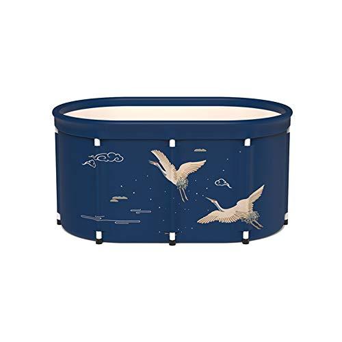 SYN-GUGAI Badewanne, Schwimmbad, generische zusammenklappbare Erwachsenenwanne Aufblasbare Badewanne Tragbare PVC-warme aufblasbare Badewanne, Eimer Große, umweltfreundliche für Duschkabine,100cm-F