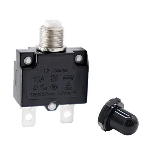 SDENSHI 10A Sicherungsschalter Für Überlastschalter Mit Schwarzer Kappe AC 125 / 250V