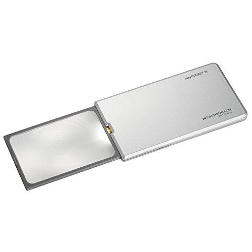 ESCHENBACH Taschen leucht Lupe XL easyPocket Silber