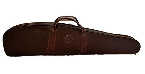 CAZA Y AVENTURA Personalisierter Sitzsack mit Initialien-Motiv, Bezug für Gewehr mit Visier aus Kunstleder 120 cm