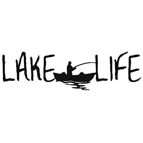 Brand Free 30cm Car Stickers Lake Life Decal Sticker for Your Car Truck Window Wall Tablet