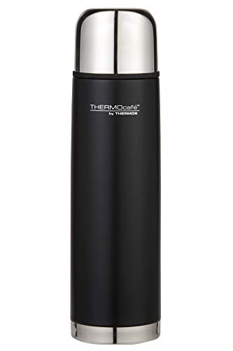 THERMOcafe Stainless Steel Vacuum Insulated Slimline Flask, 1L, Matte Black, ED10BLK6AUS