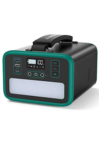 Tragbarer Powerstation 240Wh/75000mAh,Akku Generator mit Lithium-Eisen-Phosphat-Batterie,mit 3500Zyklen,200W (400WSpitze) reine Sinuswelle AC/60W PD USB-C,Anschlüsse für ReiseCamping Emergency