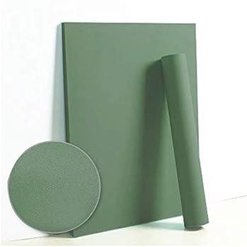 Dimoon 118 x17.7 Green Peel and Stick Wallpaper Solid Green Contact Paper Pure Green Wall Paper Self Adhesive Wallpaper Removable Wallpaper Green Textured Shelf liner Decorative Walls Decal Vinyl Roll