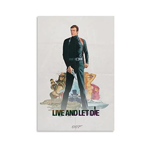 007 James Brand Goldfinger Poster su tela da parete, decorazione per camera da letto, decorazione da parete, idea regalo per uomini e donne, poster e stampe, 30 x 45 cm