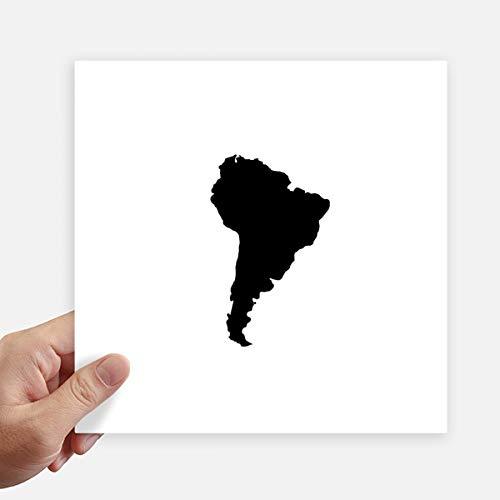 DIYthinker Green Zuid-Amerika Illustratie Kaart Vierkante Stickers 20Cm Wandkoffer Laptop Motobike Decal 4 Stks