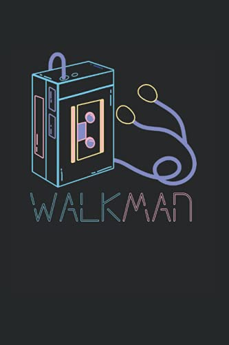 Walkman: Vintage Retro Neon Walkman Cassette Player 80s 90s Notebook, Journal & Diary - Appreciation Gift Idea - 120 Lined Pages, 6x9 Inches, Matte Soft Cover