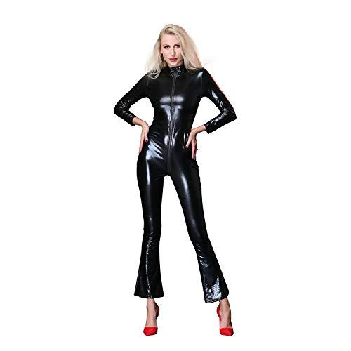 Cat kostuum Cosplay Carnaval Hot Catwoman vrouwen kostuum Catsuit Outfit met Romper voor vrouwen,Black,XL