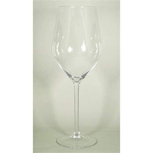 INNA-Glas XXL Weinglas Roger auf Standfuß, Kegel - Rund, klar, 75cm, Ø 20cm - Ø 28cm - Rotweinglas - Riesen Glas