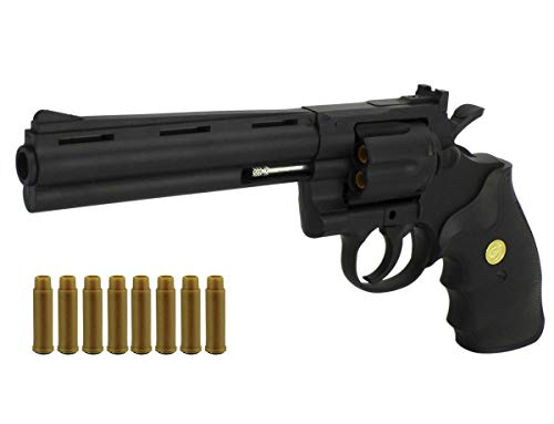 KOSxBO Softair Revolver 6mm BBS - Airsoft Pistole + Munition + Patronen - Magazine -