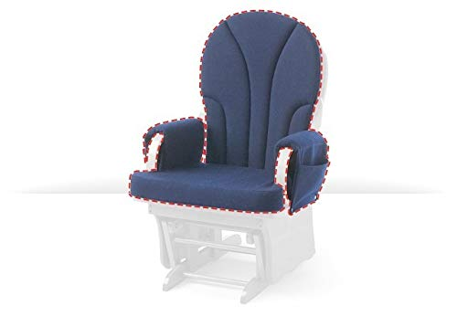 Foundations Lullaby Rocker Cushion Replacement Set, Navy
