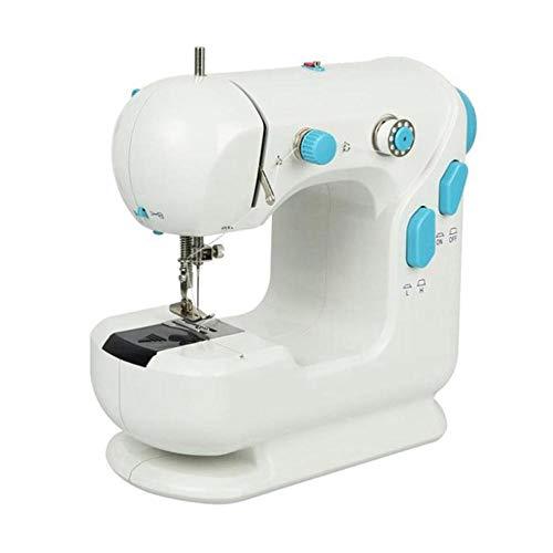 FOONEE Máquina de Coser Portátil Compacta para Principiantes Máquina de Coser para Adolescentes Máquina de Costura Eléctrica Máquina de Mano con Velocidad Ajustable, Doble Hilo, Pedal de Pie