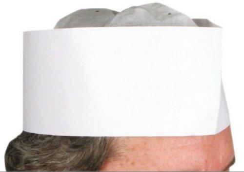 Winco Disposable 3' Paper Chef's Hat (100 Pcs/Box),White,3'